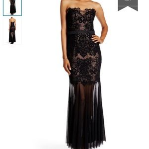 🆕 LIPSY LONDON VIP black lace gown- size 8